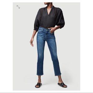 FRAME Denim High Waist Le High Straight Blue Jeans